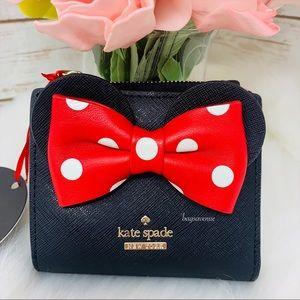 Minnie Mouse adalyn wallet Kate spade black red